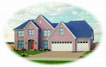 4 Bed, 3 Bath, 3128 Square Foot House Plan - #053-00827