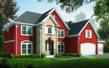 4 Bed, 3 Bath, 3394 Square Foot House Plan - #053-00833