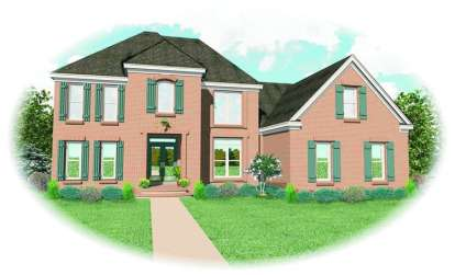 4 Bed, 3 Bath, 3377 Square Foot House Plan - #053-00834