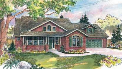 3 Bed, 2 Bath, 2689 Square Foot House Plan - #035-00096