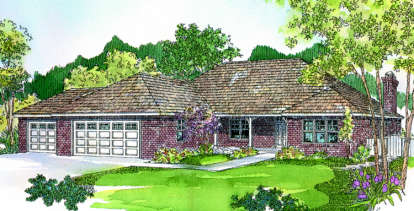 3 Bed, 2 Bath, 2130 Square Foot House Plan - #035-00100