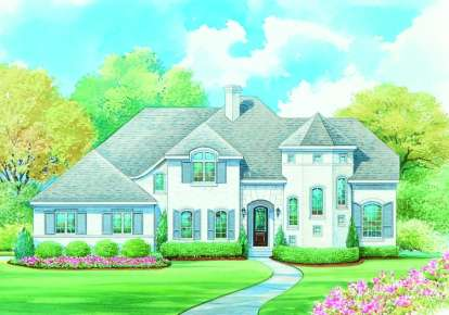 4 Bed, 3 Bath, 3053 Square Foot House Plan - #402-01070