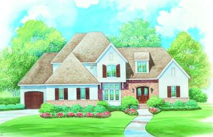 4 Bed, 2 Bath, 3373 Square Foot House Plan - #402-01071