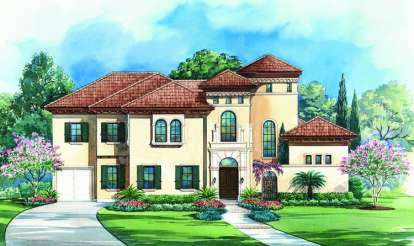 4 Bed, 4 Bath, 5203 Square Foot House Plan - #402-01073