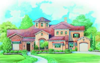 4 Bed, 3 Bath, 4719 Square Foot House Plan - #402-01075