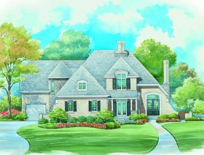 4 Bed, 3 Bath, 3415 Square Foot House Plan - #402-01076