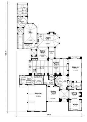 Floorplan 1 for House Plan #402-01086