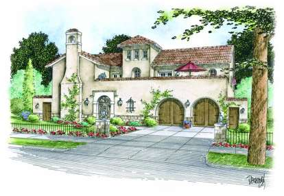 4 Bed, 3 Bath, 5879 Square Foot House Plan - #402-01091