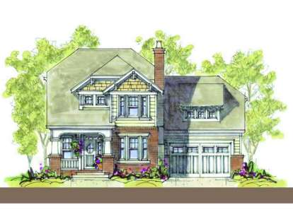 4 Bed, 3 Bath, 3054 Square Foot House Plan - #402-01095