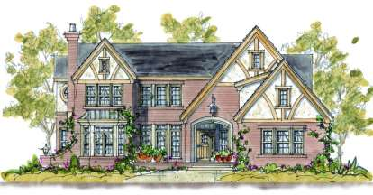 4 Bed, 3 Bath, 3464 Square Foot House Plan #402-01096
