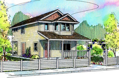 2 Bed, 2 Bath, 1429 Square Foot House Plan - #035-00107