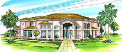 5 Bed, 3 Bath, 3327 Square Foot House Plan - #035-00108