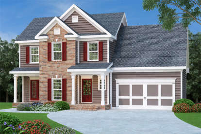 3 Bed, 2 Bath, 1582 Square Foot House Plan - #009-00059