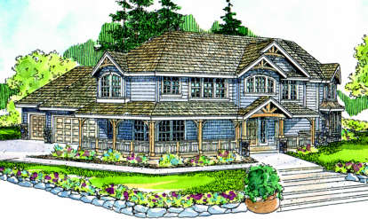 4 Bed, 3 Bath, 3031 Square Foot House Plan - #035-00113