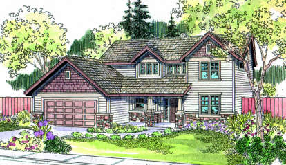 4 Bed, 2 Bath, 2587 Square Foot House Plan - #035-00116