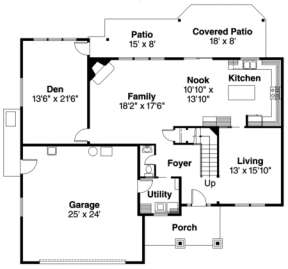 Floorplan 1 for House Plan #035-00116