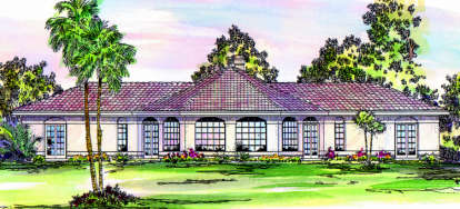 2 Bed, 2 Bath, 1778 Square Foot House Plan - #035-00117