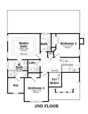 Second Floor for House Plan #009-00060