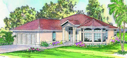 3 Bed, 2 Bath, 1933 Square Foot House Plan - #035-00119
