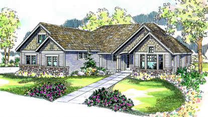 3 Bed, 2 Bath, 2890 Square Foot House Plan - #035-00120