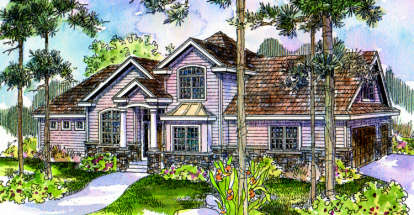 4 Bed, 3 Bath, 2471 Square Foot House Plan - #035-00128