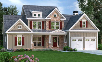 3 Bed, 2 Bath, 2351 Square Foot House Plan - #009-00061