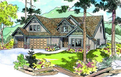 4 Bed, 3 Bath, 2965 Square Foot House Plan - #035-00129