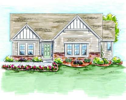 2 Bed, 2 Bath, 1597 Square Foot House Plan - #402-01379
