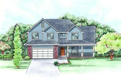 5 Bed, 2 Bath, 2532 Square Foot House Plan - #402-01398