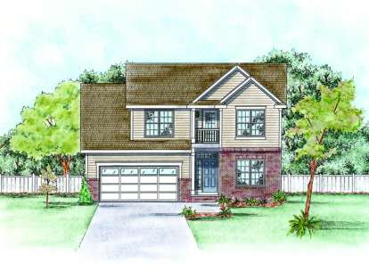 4 Bed, 2 Bath, 2390 Square Foot House Plan - #402-01401