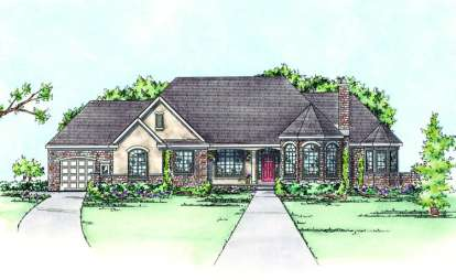 3 Bed, 2 Bath, 2962 Square Foot House Plan - #402-01410