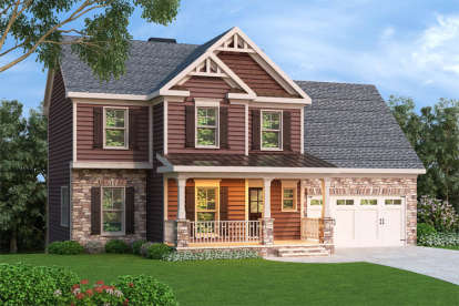 3 Bed, 2 Bath, 1582 Square Foot House Plan - #009-00062