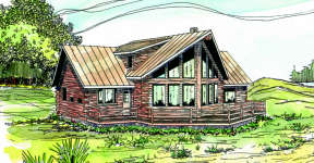 Vacation House Plan #035-00146 Elevation Photo