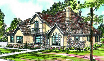 4 Bed, 3 Bath, 3129 Square Foot House Plan - #035-00147