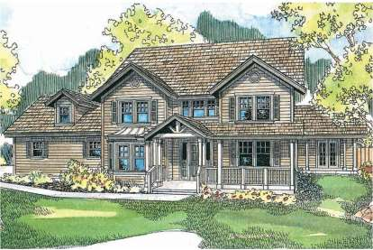 4 Bed, 3 Bath, 3273 Square Foot House Plan - #035-00148