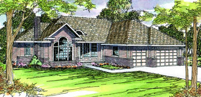 3 Bed, 2 Bath, 2505 Square Foot House Plan - #035-00150