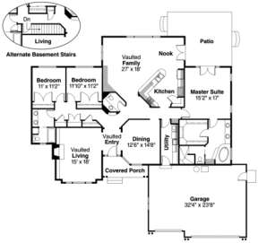 Floorplan for House Plan #035-00150