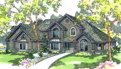 4 Bed, 4 Bath, 4289 Square Foot House Plan - #035-00152