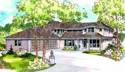 5 Bed, 3 Bath, 3555 Square Foot House Plan - #035-00155