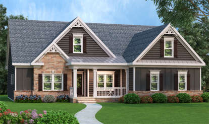 3 Bed, 2 Bath, 1934 Square Foot House Plan - #009-00064