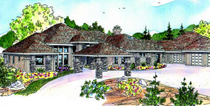 3 Bed, 3 Bath, 3412 Square Foot House Plan - #035-00159
