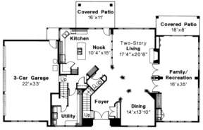 First Floor for House Plan #035-00162