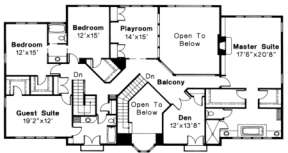 Second Floor for House Plan #035-00162