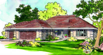 3 Bed, 2 Bath, 2087 Square Foot House Plan - #035-00165
