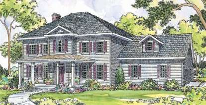 4 Bed, 2 Bath, 2305 Square Foot House Plan #035-00166