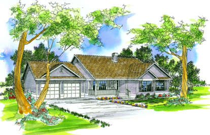3 Bed, 2 Bath, 1683 Square Foot House Plan - #035-00168