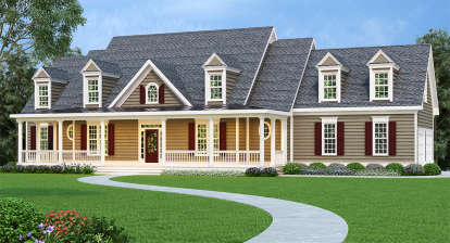 4 Bed, 3 Bath, 3681 Square Foot House Plan - #009-00065