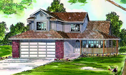 3 Bed, 2 Bath, 1785 Square Foot House Plan - #035-00170