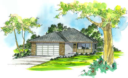 3 Bed, 2 Bath, 1632 Square Foot House Plan - #035-00172