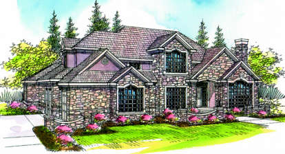 4 Bed, 3 Bath, 4030 Square Foot House Plan - #035-00175